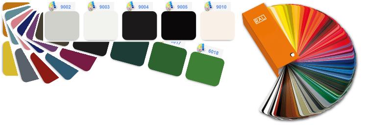Vzorník barevné škály RAL pro barvení systému zasklívání lodžií TERMOplus