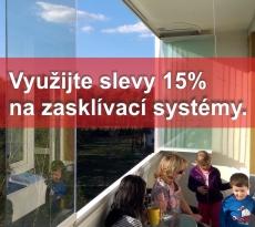Sleva 15% na zasklívací systémy