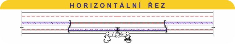 Horizontální řez zasklením TERMOglass