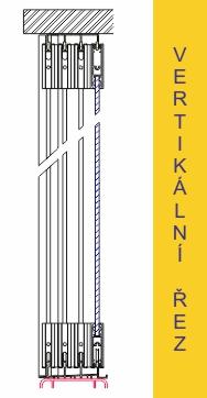 Zasklívání lodžií TERMOglass - vertikální řez