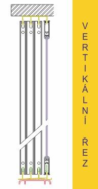 Vertikální řez systému pro zasklívání lodžií TERMOplus