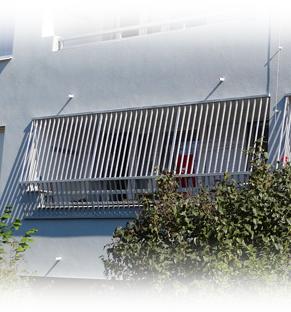 Doplňky lodžií - panelákové mříže z hliníkových profilů