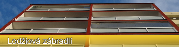 Lodžiová zábradlí především pro panelové domy